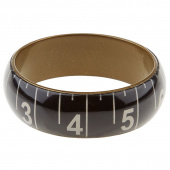 Missouri Star Measuring Tape Bracelet - Wide Black