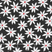 Cherry Twist - Daisy Dot White/Red Yardage