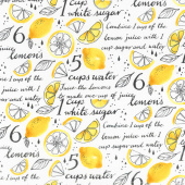 When Life Gives You Lemons - Lemonade Recipe White Yardage
