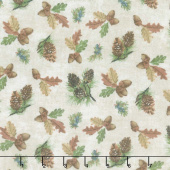 Outdoor Adventures - Pinecone Toss Beige Multi Flannel Yardage