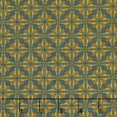 Sage & Sea Glass - Wheat Blossoms Blue Yardage