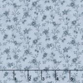 Snowberry - Floral Vine Sky Yardage