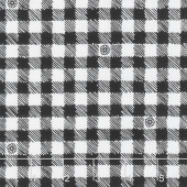 Honey Run - Gingham Check Black Yardage