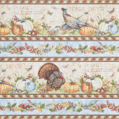 Seeds of Gratitude - Repeating Border Stripe Multi Yardage