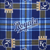 MLB Fleece - Kansas City Royals Blue/Gold Yardage