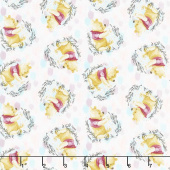 Disney - Pooh Everyday Pooh Tossed Pink Yardage