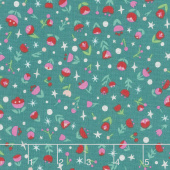 Dorothy's Journey - Dorothy's Poppy Emerald with Silver Sparkle Yardage