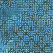 Diaphanous - Trellis Turquoise Digitally Printed Yardage