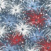 American Valor - Fireworks Navy Yardage