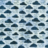 Forecast Batiks - Clouds Rain Yardage