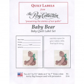 Baby Bear Digitally Printed Quilt Labels
