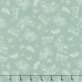 Wild Bouquet - Moths Green Yardage
