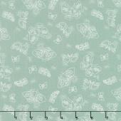 Wild Bouquet - Moths Green Yardage