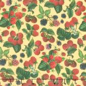 Briarwood - Packed Berry Toss Yellow Multi Yardage