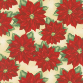 Holiday Lane - Poinsettia Tan Yardage