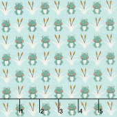 Camp - A - Long Critters - Frogs Light Green Yardage