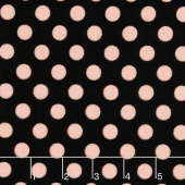 Bliss - Dots Black with Rose Gold Sparkle Yardage