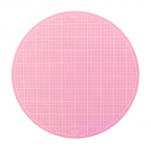 "Sue Daley 10"" Round Rotating Cutting Mat - Pink"