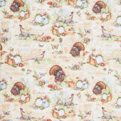 Seeds of Gratitude - Large Allover Tan Yardage