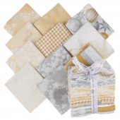 Winter's Grandeur 6 Champagne Metallic Fat Quarter Bundle