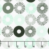 Cozy Cotton Flannels - Cool Mint Circles Mint Yardage