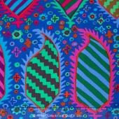 Kaffe Collective - Jewel Striped Herald Blue Yardage