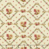 Bricolage - Floral Trellis Ivory Yardage