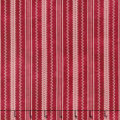The Little Things - Stitched Ticking Red/Natural Yardage