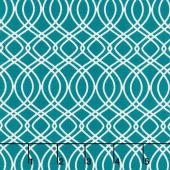 Bloomsbury - Knotted Trellis Spearmint Teal Yardage