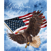 Stonehenge Stars and Stripes VIII - America Glory and Free Blue Multi Digitally Printed Panel