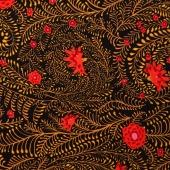 Kaffe Collective - Spicy Palette Ferns Black Yardage