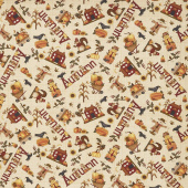 Buttermilk Autumn - Novelty Toss Tan Yardage
