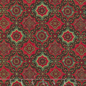 A Joyful Season - Geo Print Multi Metallic Yardage