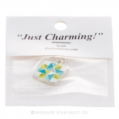 Spinning Star Charm Green & Blue