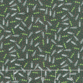The Christmas Card - Trees Charcoal Yardage