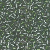 The Christmas Card - Trees Charcoal Yardage