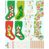 How the Grinch Stole Christmas - Stockings Holiday Panel