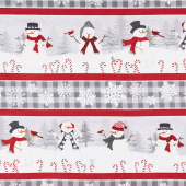 Snowy Wishes - Repeating Stripe Multi Yardage