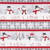 Snowy Wishes - Repeating Stripe Multi Yardage