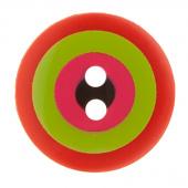 """Kaffe Fassett Button - 5/8"""" Orange & Green Target"""