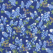 Bluebonnet Patch - Bluebonnet Navy Yardage