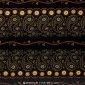 Little House on the Prairie - Mansfield Stripe Black Red Yardage