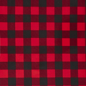 "108"" Quilt Back - Buffalo Plaid Red 108"" Wide Backing"