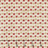 Berries and Blossoms - Star Strands Cream Yardage