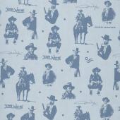 John Wayne - Silhouettes Blue Yardage