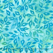 Artisan Batiks - Greenhouse 3 Scattered Leaves Sweet Pea Yardage
