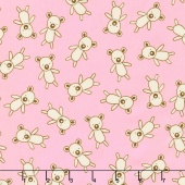 Penned Pals - Pink Colorstory Bears Pink Yardage