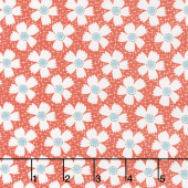 Farmhouse II - Daisies & Gingham Tomato Yardage