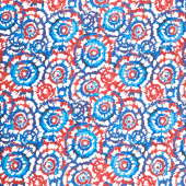 "Spin Art - Patriotic Digitally Printed 108"" Wide Backing"