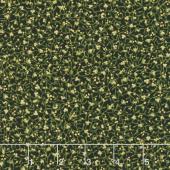 Gilded Greenery - Mistletoe Ebony Metallic Yardage